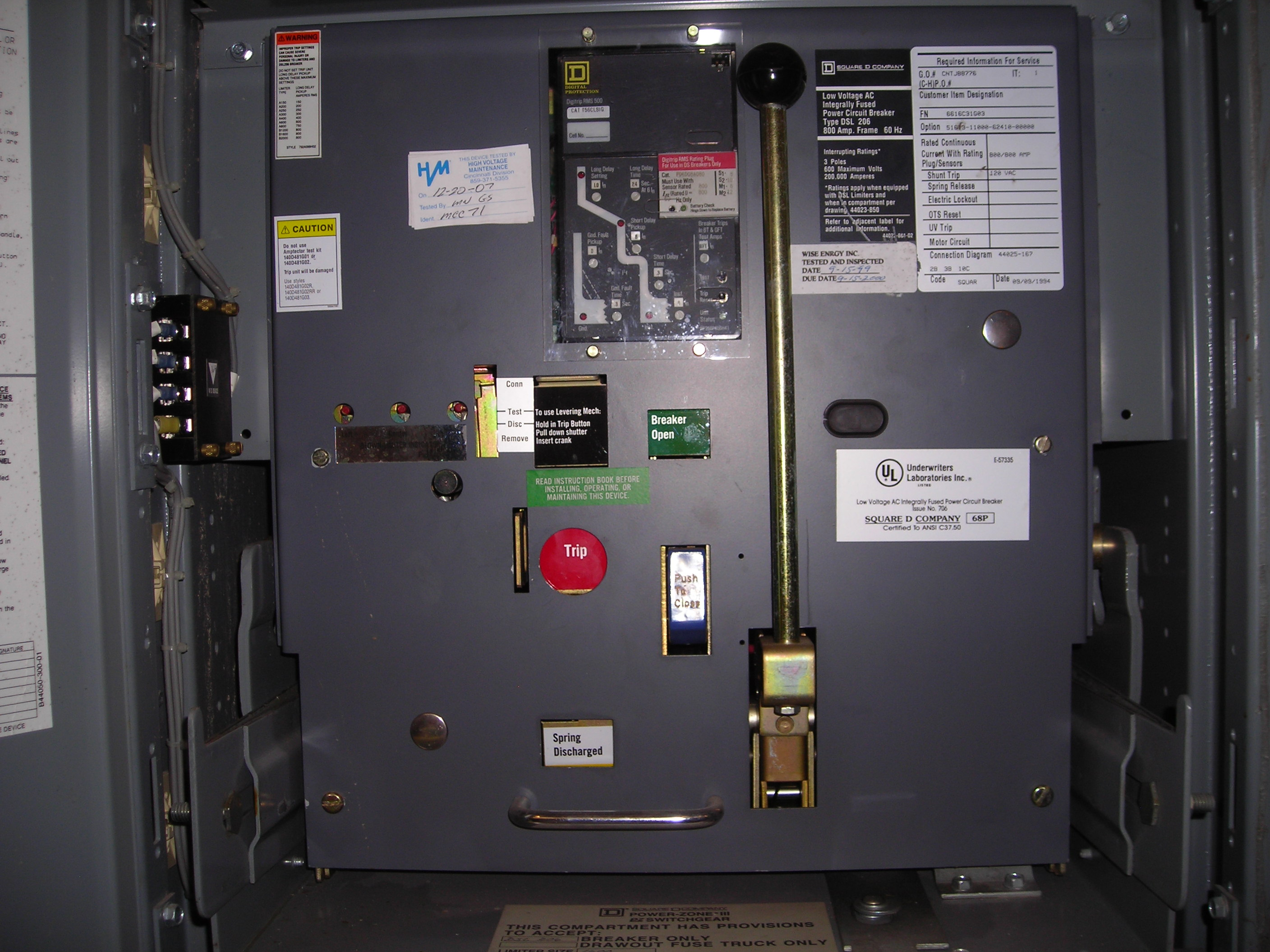 MAIN ELECTRICAL PANELS